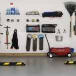 Reorganised concrete garage
