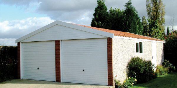 Apex15 double concrete garage