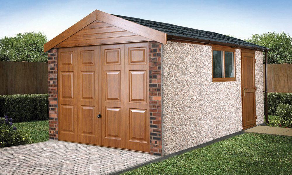 Apex20 brick concrete garage