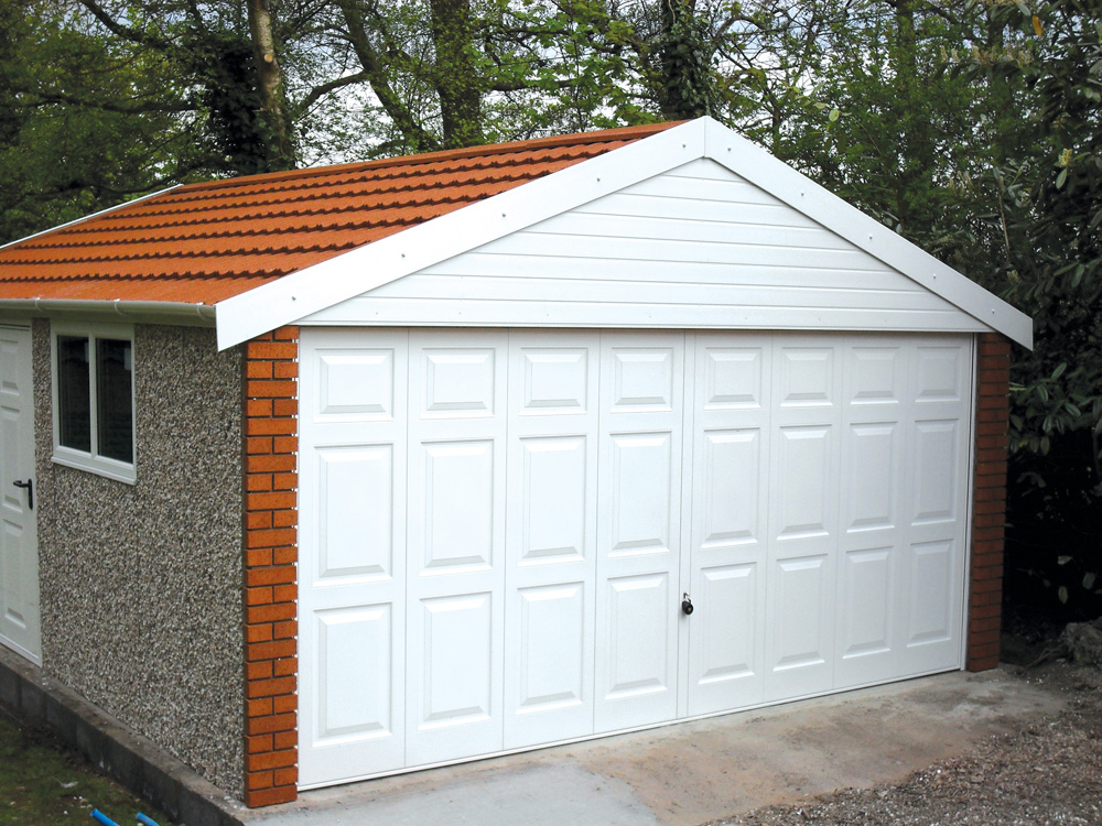 Apex 20 roof concrete garages free quote lidget compton for How wide is a garage