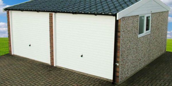Apex90 double concrete garage