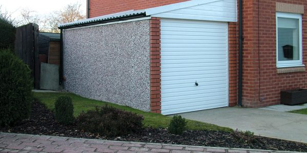 Lean to sectional concrete garages