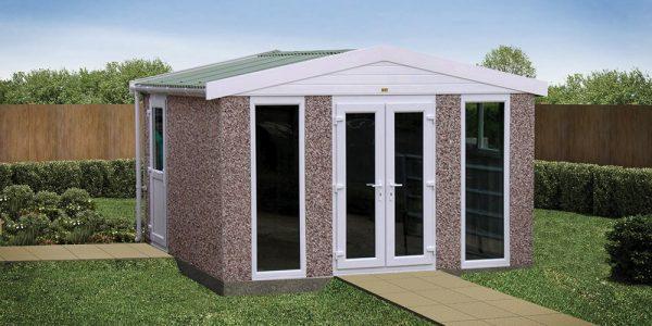Concrete garden buildings and outdoor rooms