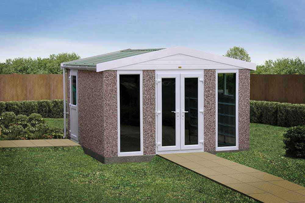 Sectional concrete garden rooms buildings lidget compton for Brick garden room designs