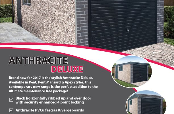 Anthracite Deluxe concrete garage