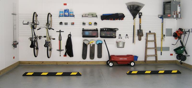 Reorganised concrete garage