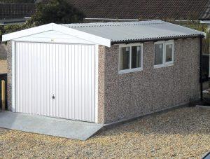 Apex PVCU concrete garage