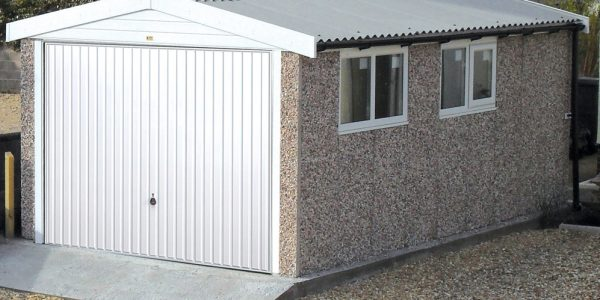 Apex PVCU concrete garage