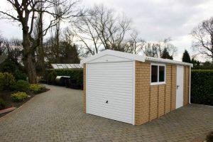Apex brick concrete garage