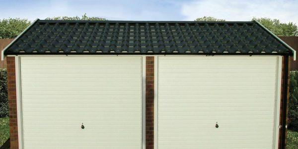Apex90 front double concrete garage
