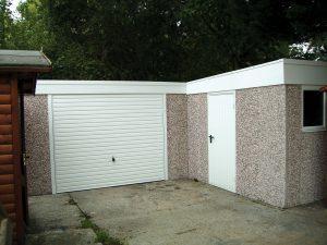 Pent L-Shape garage