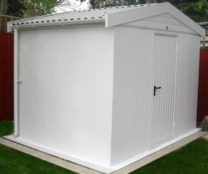 Lidget concrete textured shed