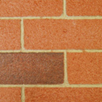 Lidget brick finish antique red
