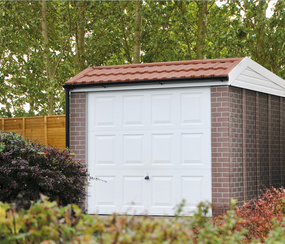 Pent mansard concrete garages free quote lidget compton for Brick garages prices
