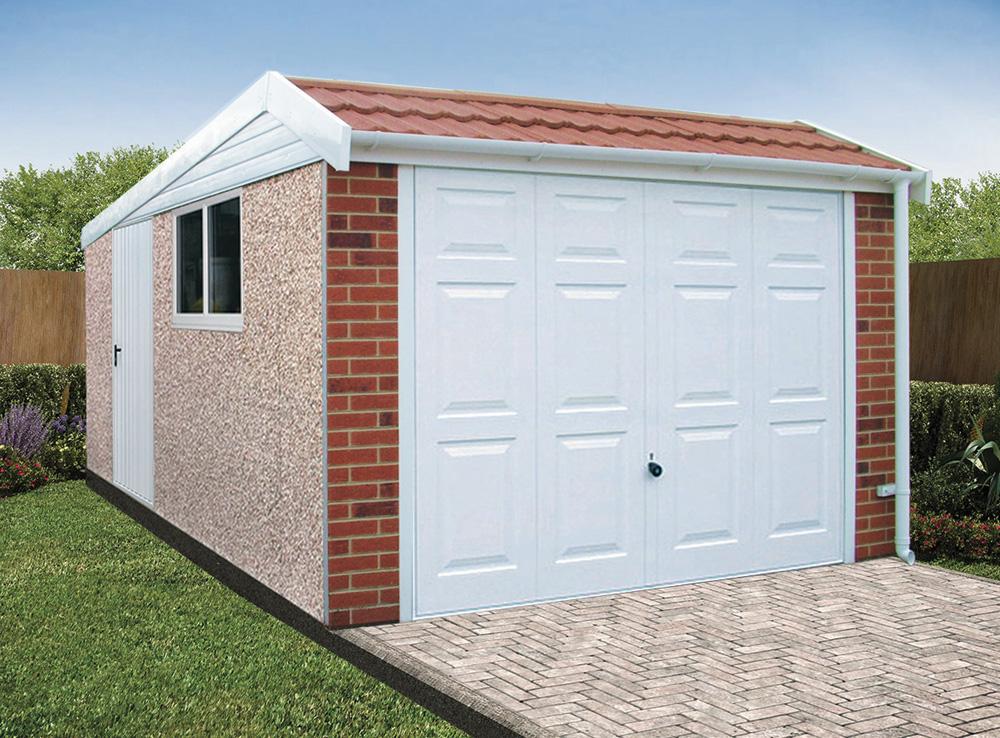 Pent Mansard Concrete Garages Free Quote Lidget Compton