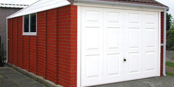 Pent mansard concrete garage