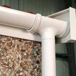 Lidget garage PVCU gutters