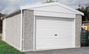Extra high apex concrete garage